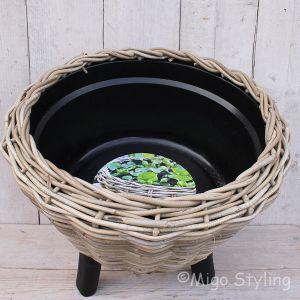 Drypot mand op pootjes