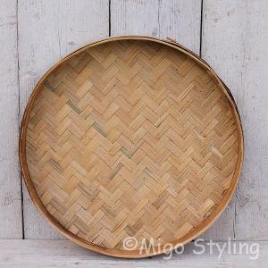 Bamboe dienblad naturel