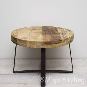 Bijzet-salontafel rond mango