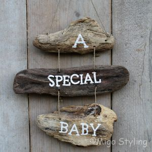 Driftwood hanger A special baby