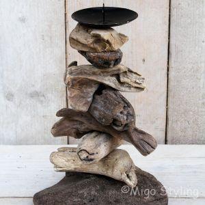 Driftwood kandelaar
