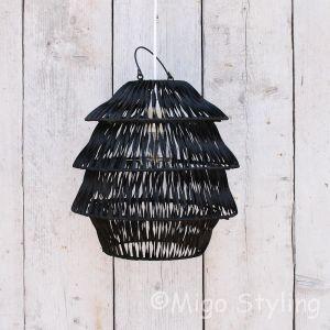 Hanglamp Bali zwart klein