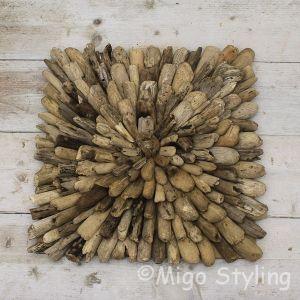 Houten wandbord van gerecycled drijfhout