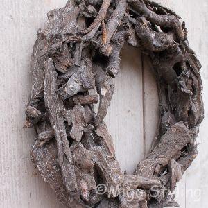 Houtkrans 50 cm Black wash
