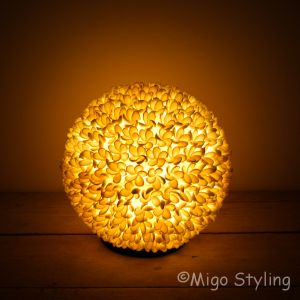 Schelpen tafellamp Jepun