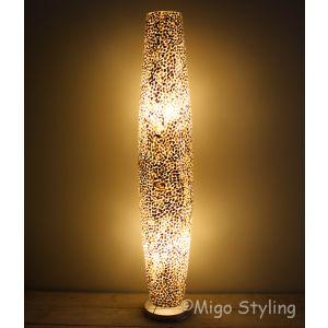 Vloerlamp Cone schelpen copper