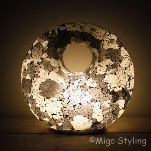 Mozaiek design tafellamp Donut