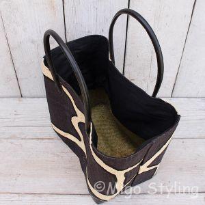 Jute tas met zwarte vlekken