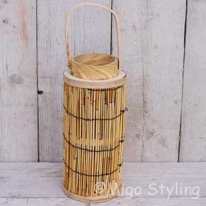 Lantaarn Bamboe Naturel Ø 16 x H 35