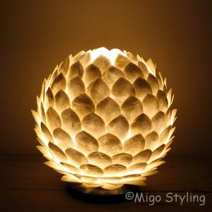 Lotus tafellamp slaap of woonkamer