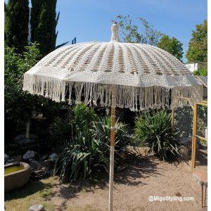 Macrame handgeknoopte parasol