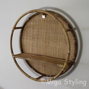Rond wandrek webbing-bamboe
