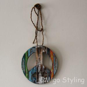 Peace hanger gekleurd