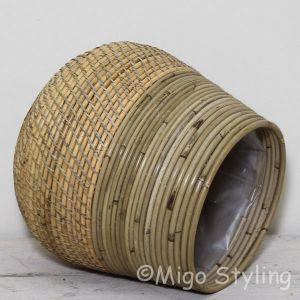 Plantenmand Lombok Grey/blond basket