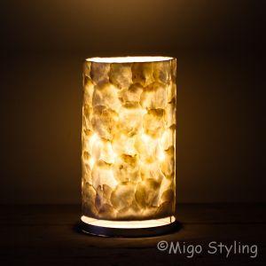 Tafellamp parelmoer capiz 16 cm