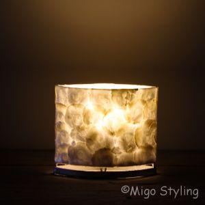 Tafellamp parelmoer capiz 20 cm