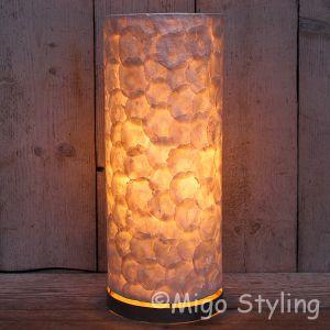 Tafellamp parelmoer capiz rond H50 cm