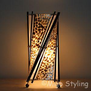 Tafellamp Twist capizschelp brons koper