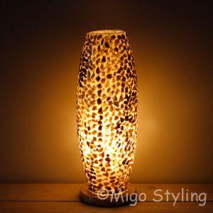 Tafellamp copper gevlokt Cone
