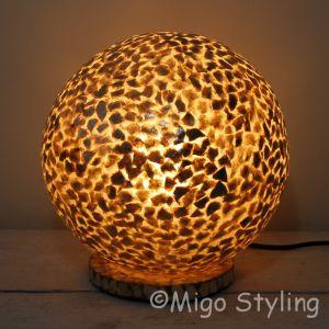 Tafellamp Schelpen bol bruin/goud