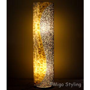 Vloerlamp Schelpen design vloerlamp wit antraciet H 160cm