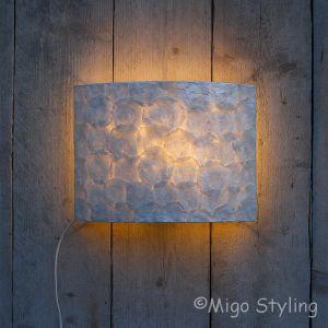 Wandlamp full capiz 35 cm breed