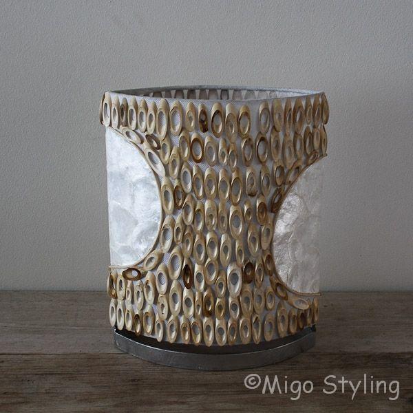 Tafellamp licht bamboe 30 cm