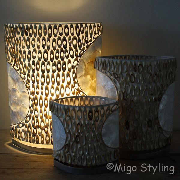 Tafellamp licht bamboe 20 cm