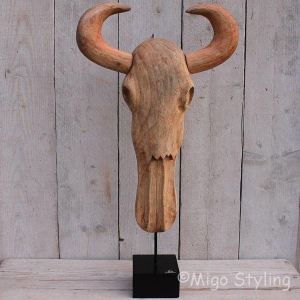 Bison op standaard - Buffelkop