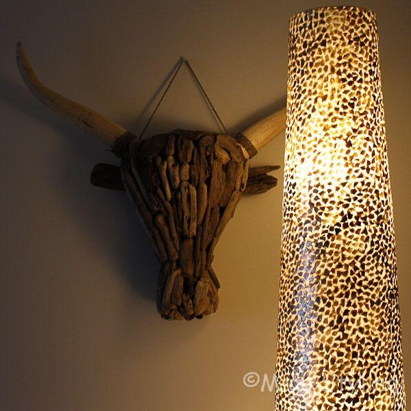 Driftwood kop buffel XL drijfhout
