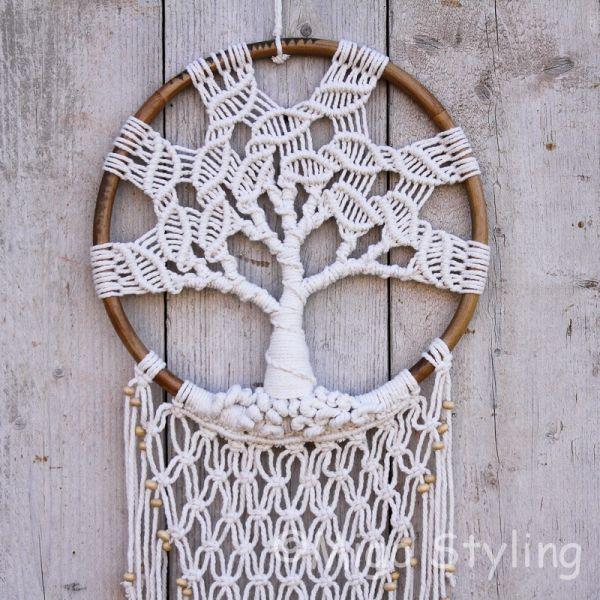 Dromenvanger Tree of Life macrame D 35