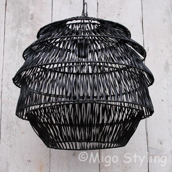 Hanglamp Bali zwart middel