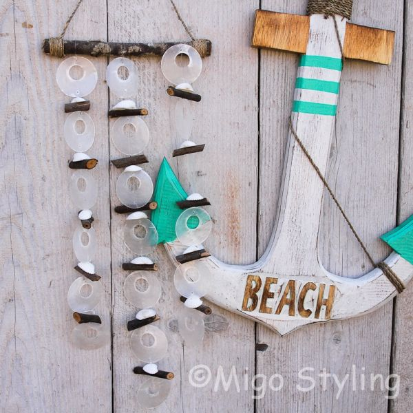 Houten Anker Beach terquoise pakket
