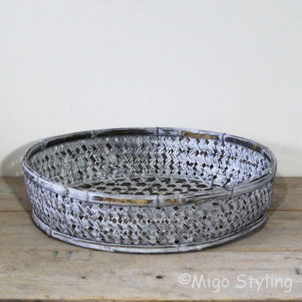 Bamboemand (S) open grey wash