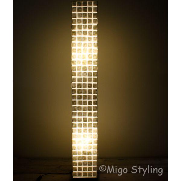 Vloerlamp Parelmoer schelpen vierkantjes 170 cm