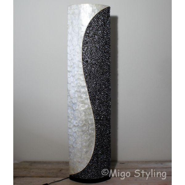 Vloerlamp Schelpen design vloerlamp wit antraciet