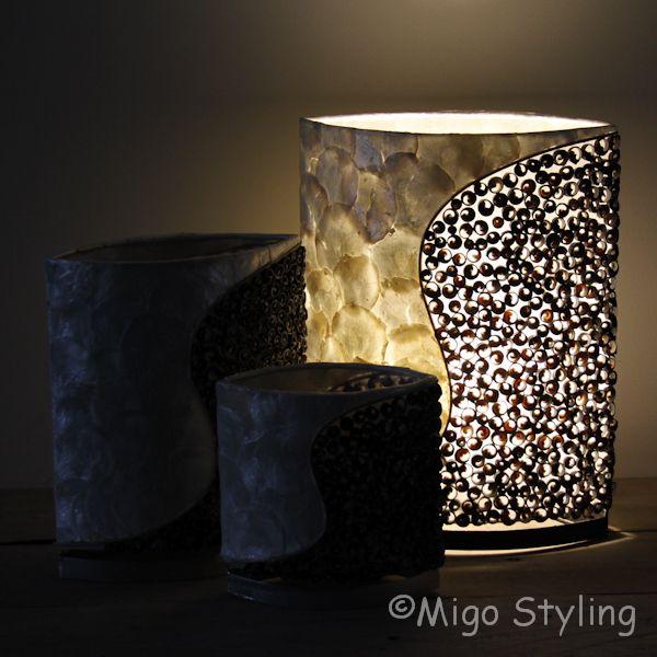 Tafellamp Schelpen design