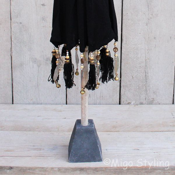 Tafelparasol uit Bali 60 cm zwart