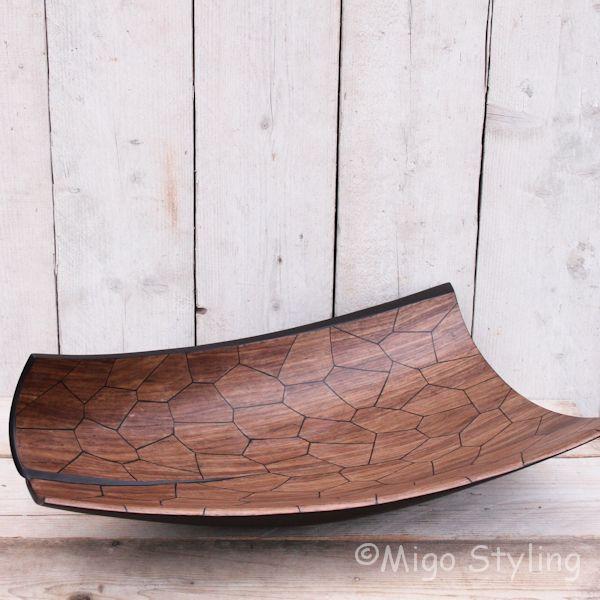 Exclusieve houten design schaal