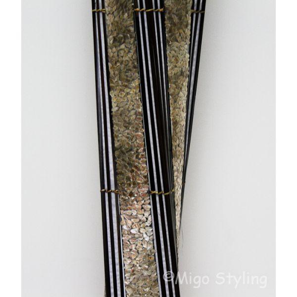 Vloerlamp Twist capizschelp 170 cm brons koper