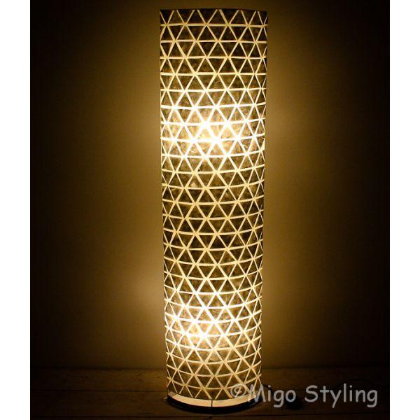 Vloerlamp Parelmoer schelpen driehoekjes