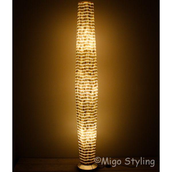 Vloerlamp Cone schelpen wit 200 cm