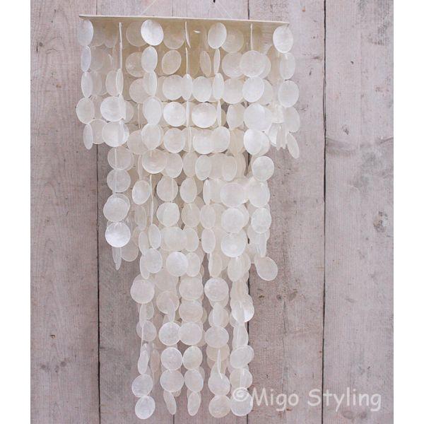 Schelpen lamp / hanger vierkant