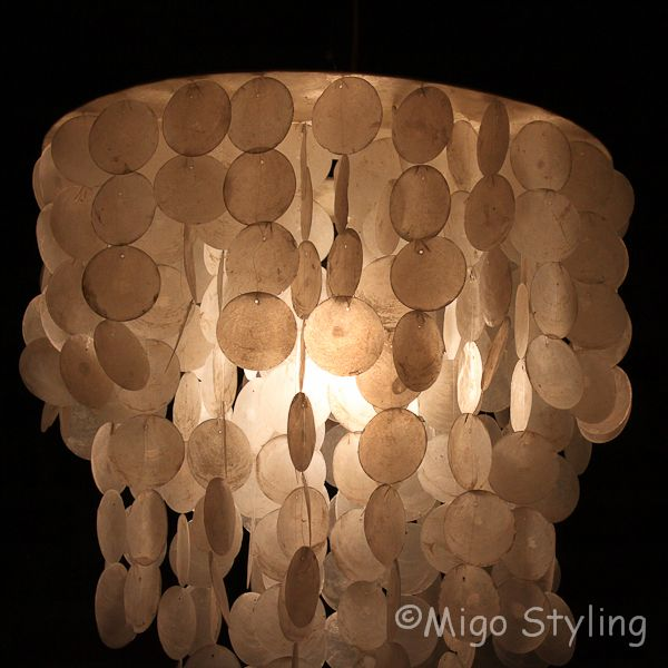 Schelpenlamp / hanger 60 cm