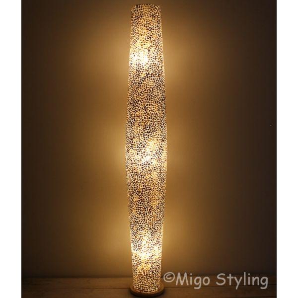 Vloerlamp Cone schelpen copper gevlokt 170 cm