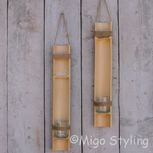 Set Bamboehangers waxine