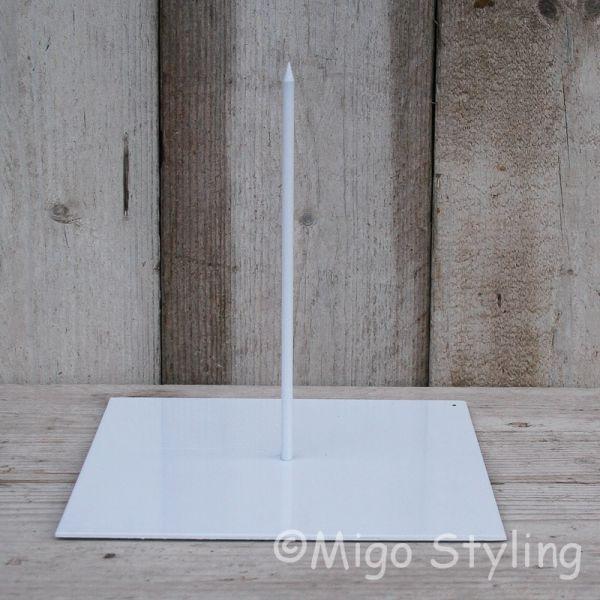 Standaard voor krans 25 x 25 Wit