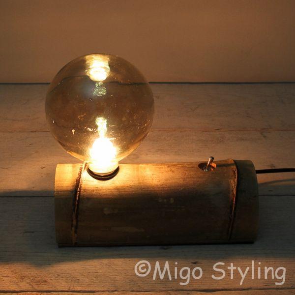 Tafellamp bureaulamp Bamboe