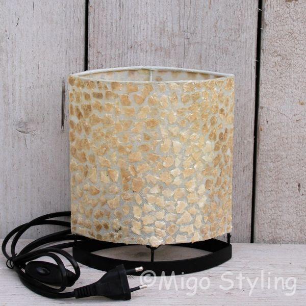 Tafellamp copper gevlokt 20 cm