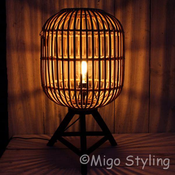 Tafellamp Rotan naturel